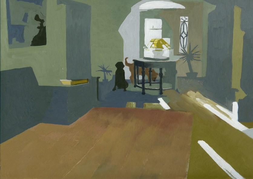 """2 Dogs in the Morning"" original fine art by Nancy Herman"