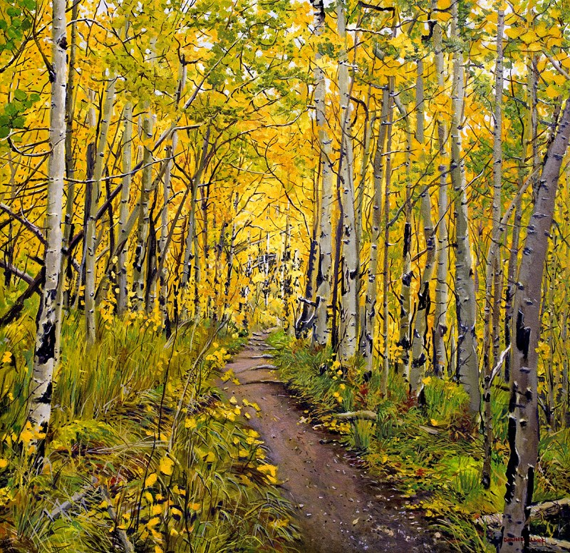 """Kenosha to Breckenridge Trail"" original fine art by Daniel Fishback"