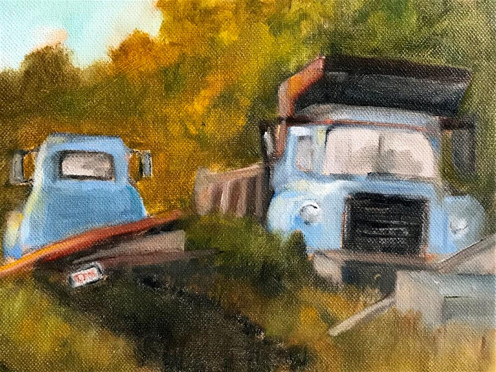 """junk yard"" original fine art by Betty Argiros"