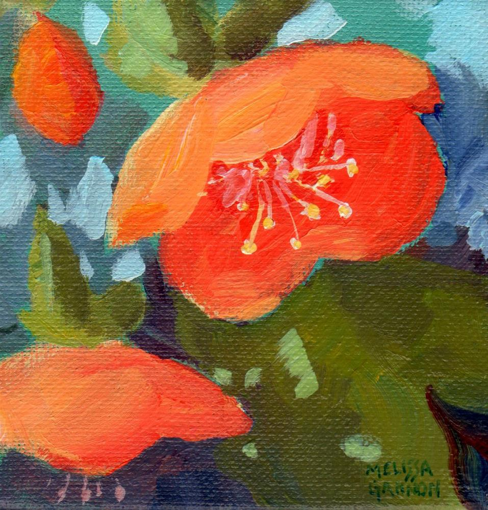 """Hellebore in Orange"" original fine art by Melissa Gannon"