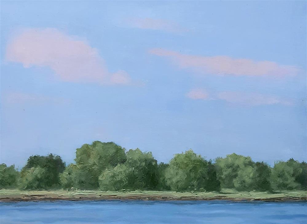 """Through the Trees"" original fine art by Karen Johnston"