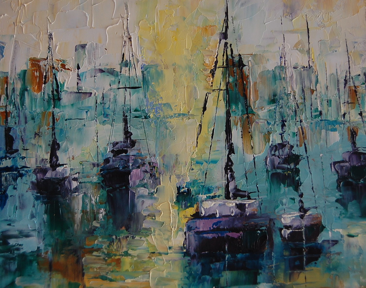 """Harbor Cruise"" original fine art by Deborah Harold"