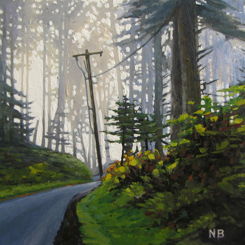 """Sea Mist in the Forest"" original fine art by Nora Bergman"