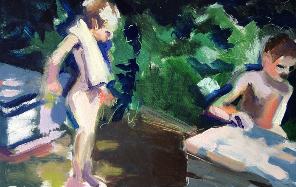 """Boys of Summer"" original fine art by Pamela Hoffmeister"