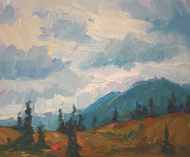 """Alaska Sky"" original fine art by Kathryn Townsend"