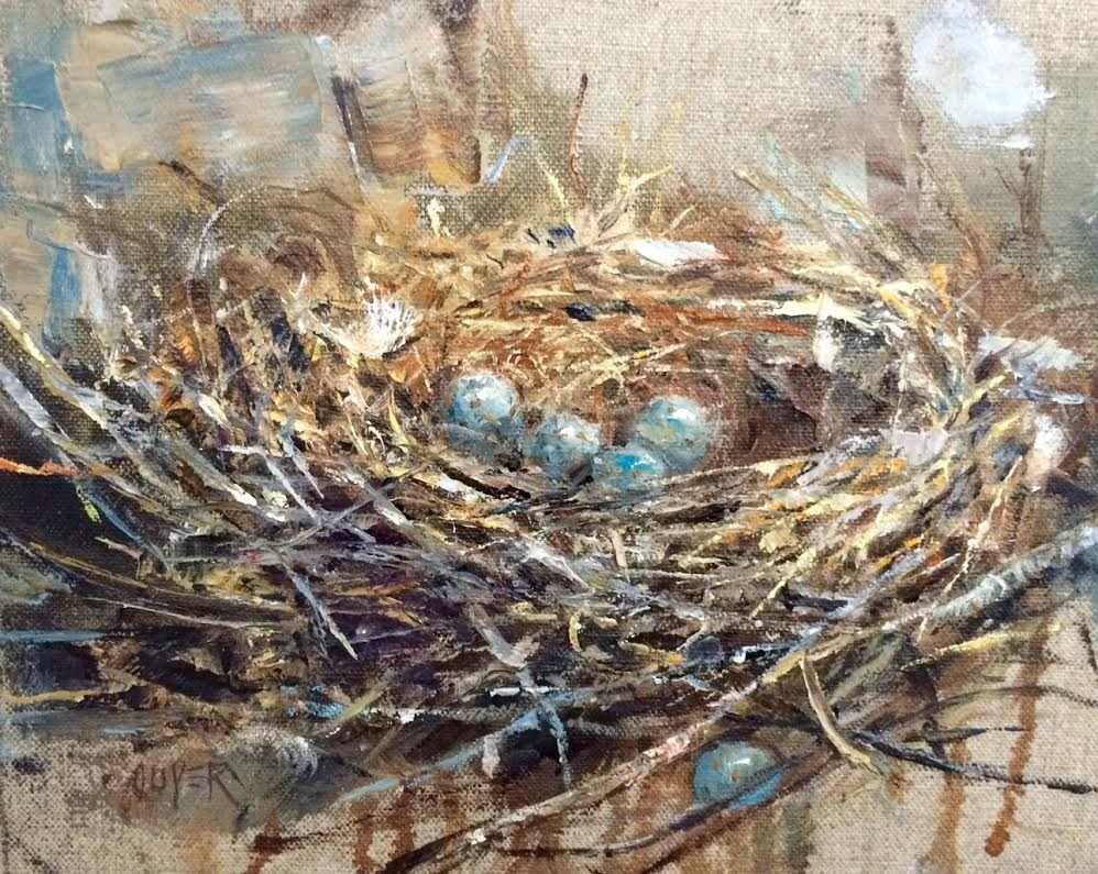 """""""New Home - Leap Year"""" original fine art by Julie Ford Oliver"""