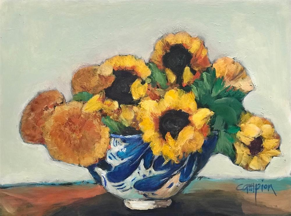"""972 Sunshine and Teddy Bears"" original fine art by Diane Campion"