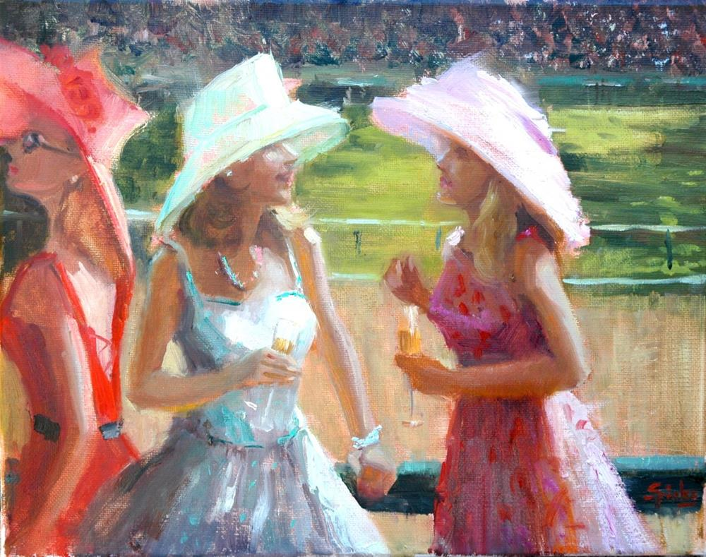 """Girl Talk"" original fine art by Johanna Spinks"