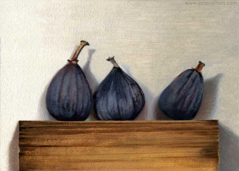 """Three Figs"" original fine art by Ester Wilson"
