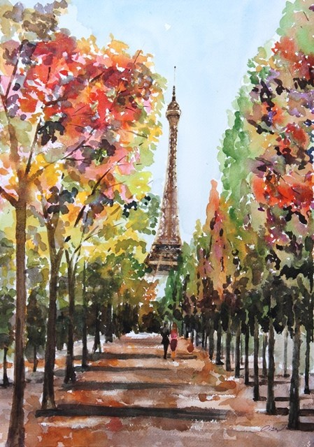 """""""Path to the Tower"""" original fine art by Lisa Fu"""