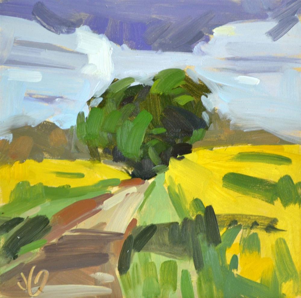 """Spring Color Splash Study"" original fine art by Jessica Green"