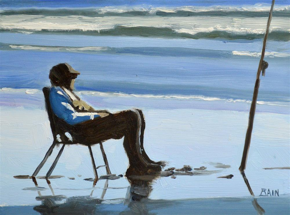"""""""Early Casting"""" original fine art by Peter Bain"""