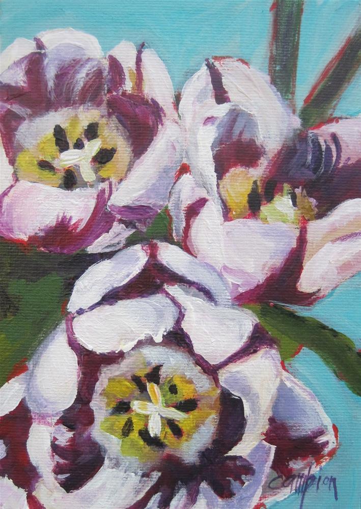 """""""Zurel Tulips"""" original fine art by Diane Campion"""