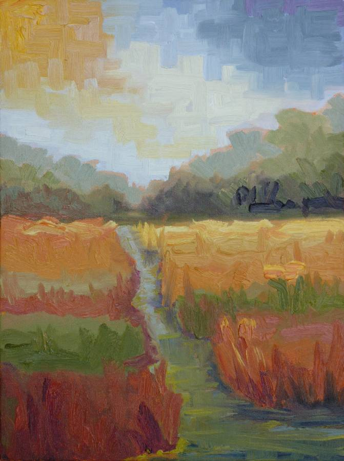 """Autumn Wetlands"" original fine art by Shawn Deitch"