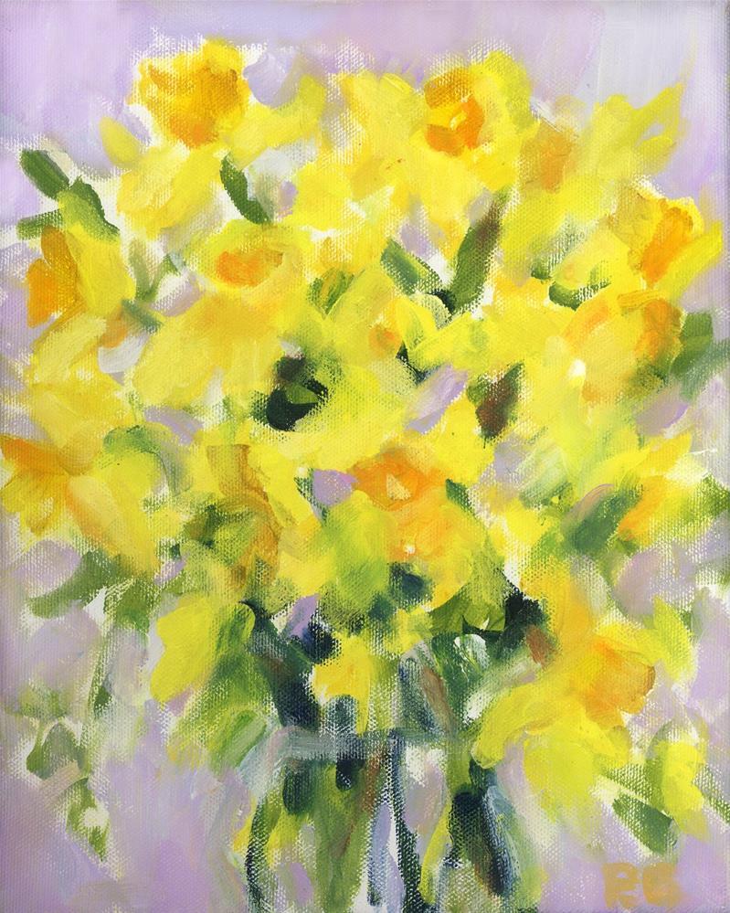 """Daffodils"" original fine art by Pamela Gatens"