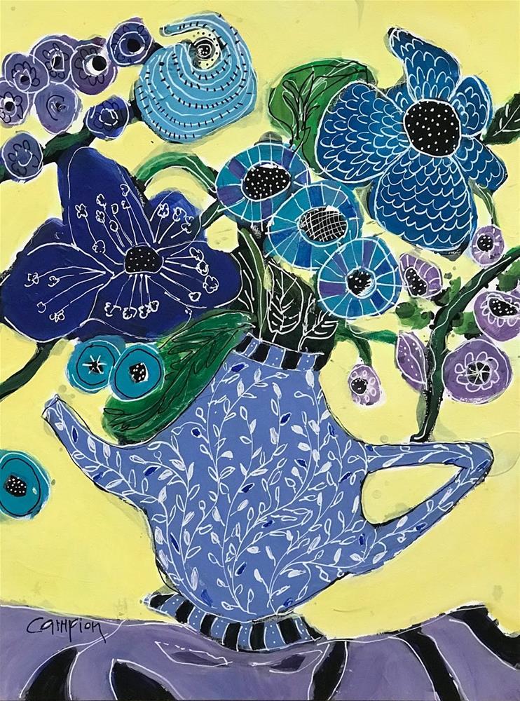 """960 Forget-Me-Not"" original fine art by Diane Campion"