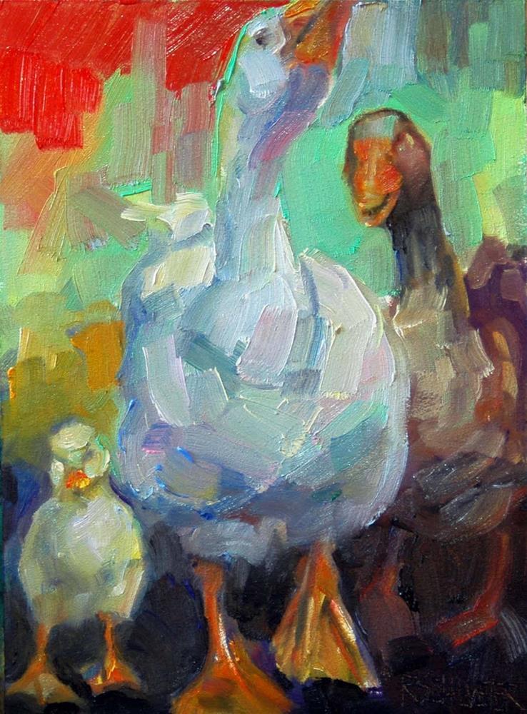"""""""Geese"""" original fine art by Rachel K Schlueter"""