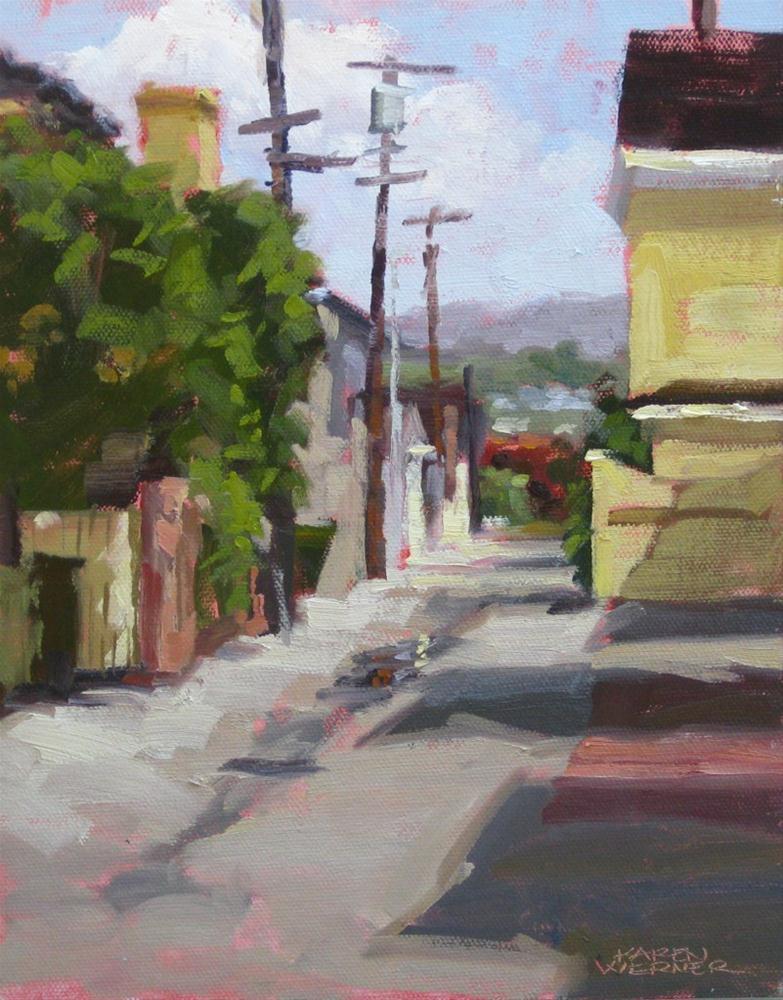 """""""Island Alley"""" original fine art by Karen Werner"""
