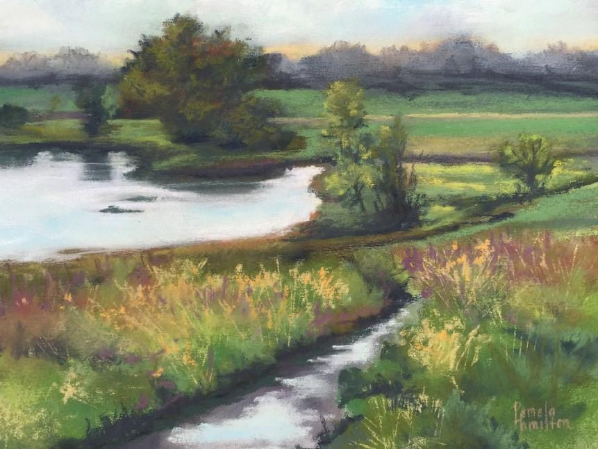 """Peck en Plein Air"" original fine art by Pamela Hamilton"