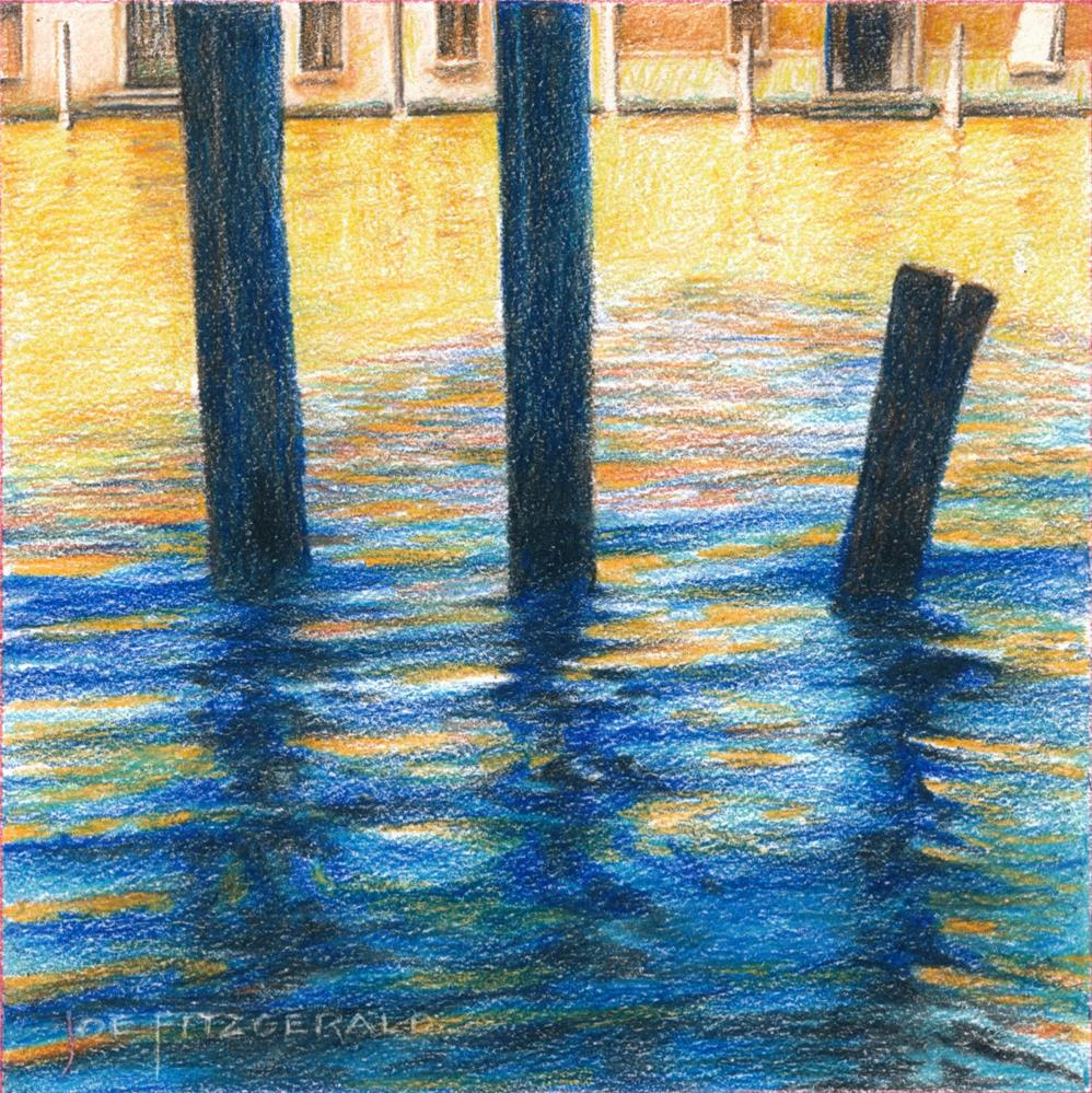 """Posts of Venice I"" original fine art by Joe Fitzgerald"
