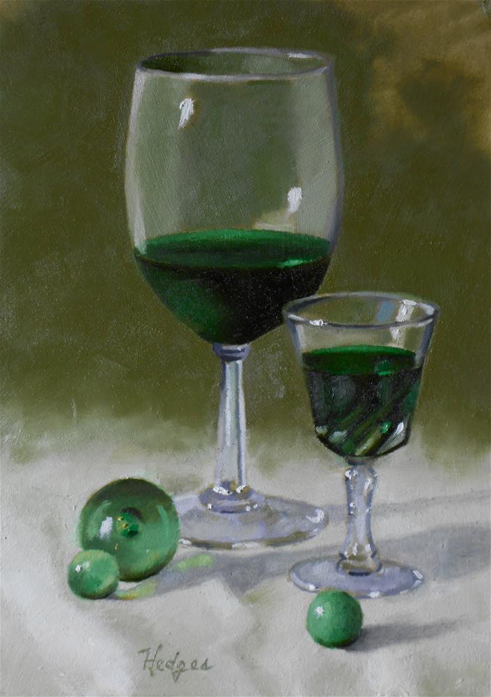 """""""Creme de Menthe with Marbles"""" original fine art by Bruce Hedges"""