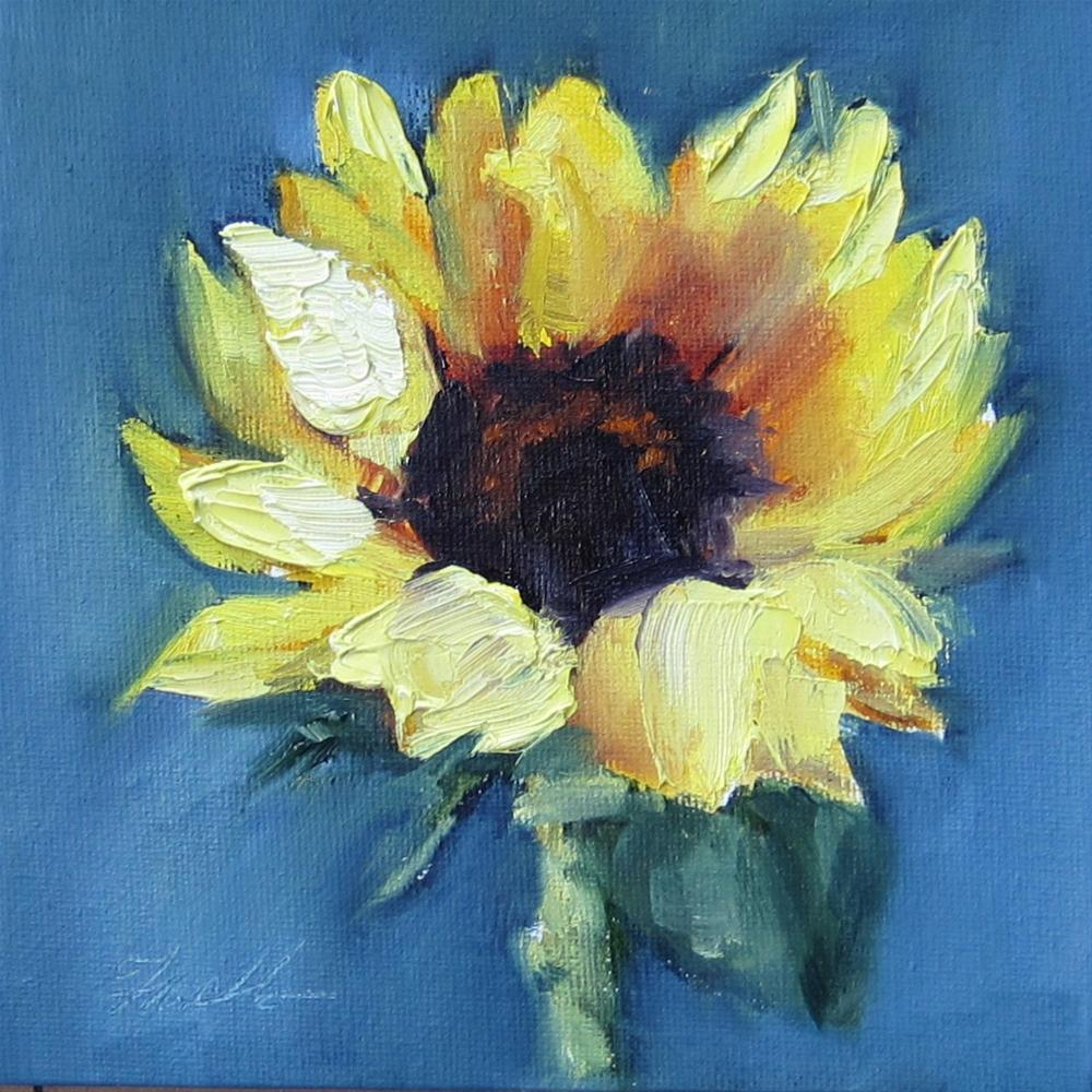 """Sunflower 2"" original fine art by Pat Fiorello"