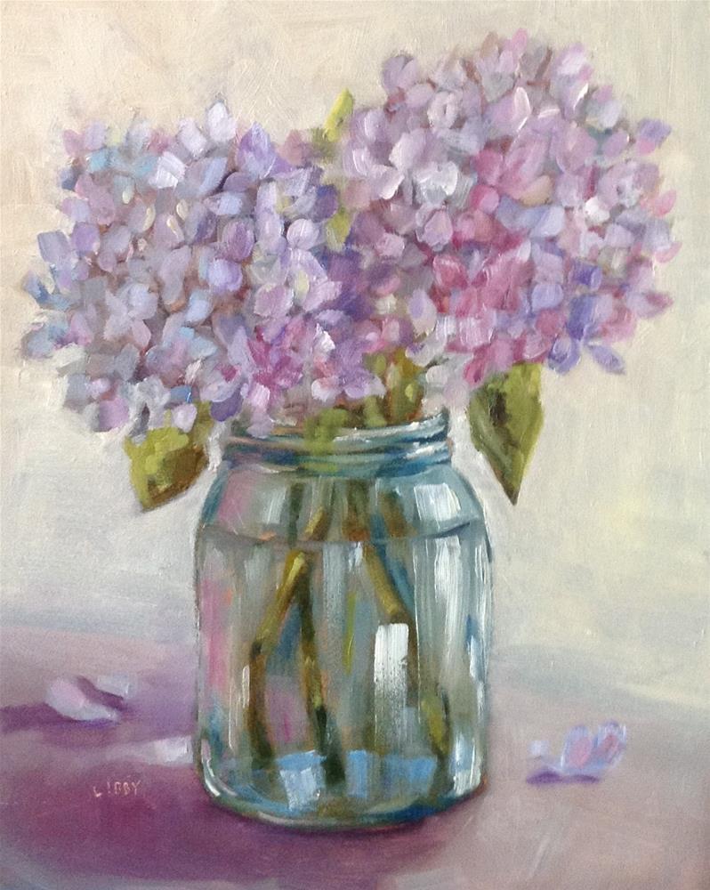 """Jar of Blooms"" original fine art by Libby Anderson"