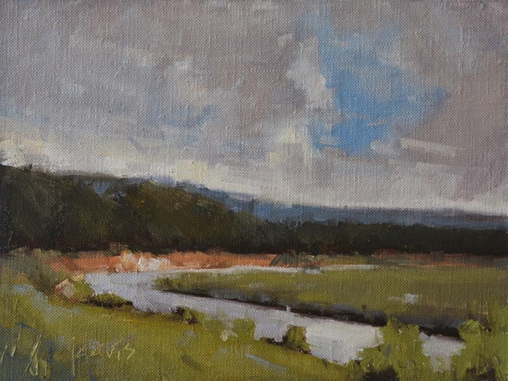 """River's Bend"" original fine art by Julie Davis"