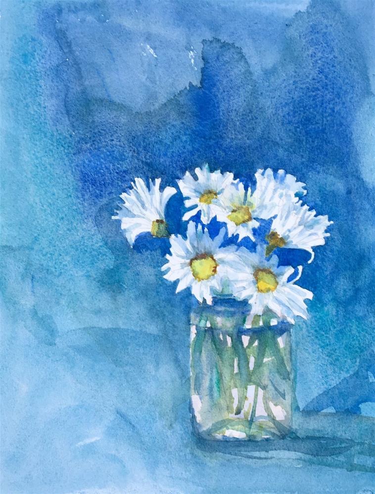 """""""Daisies!"""" original fine art by Katharine Engh"""