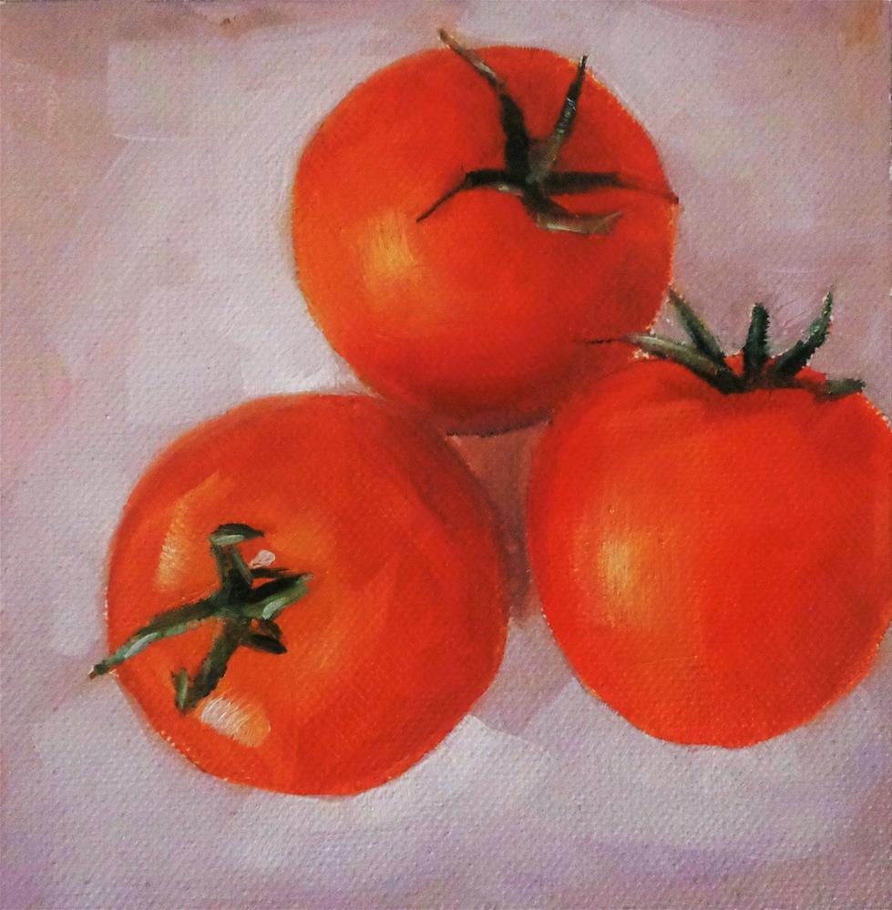 """Tomatoes"" original fine art by Maria Z."