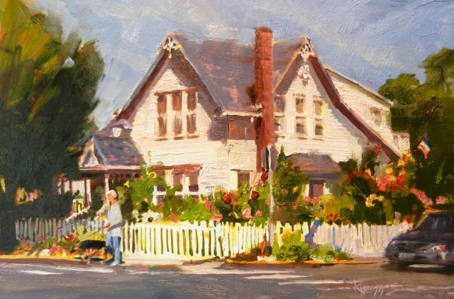 """White House urban plein air painting by Robin Weiss , Gallery North's Plein Air and Beauty of the "" original fine art by Robin Weiss"