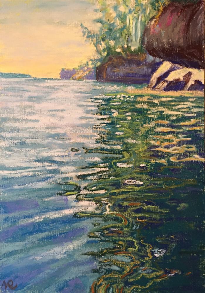 """Lake Superior, WI"" original fine art by Natasha Ramras"