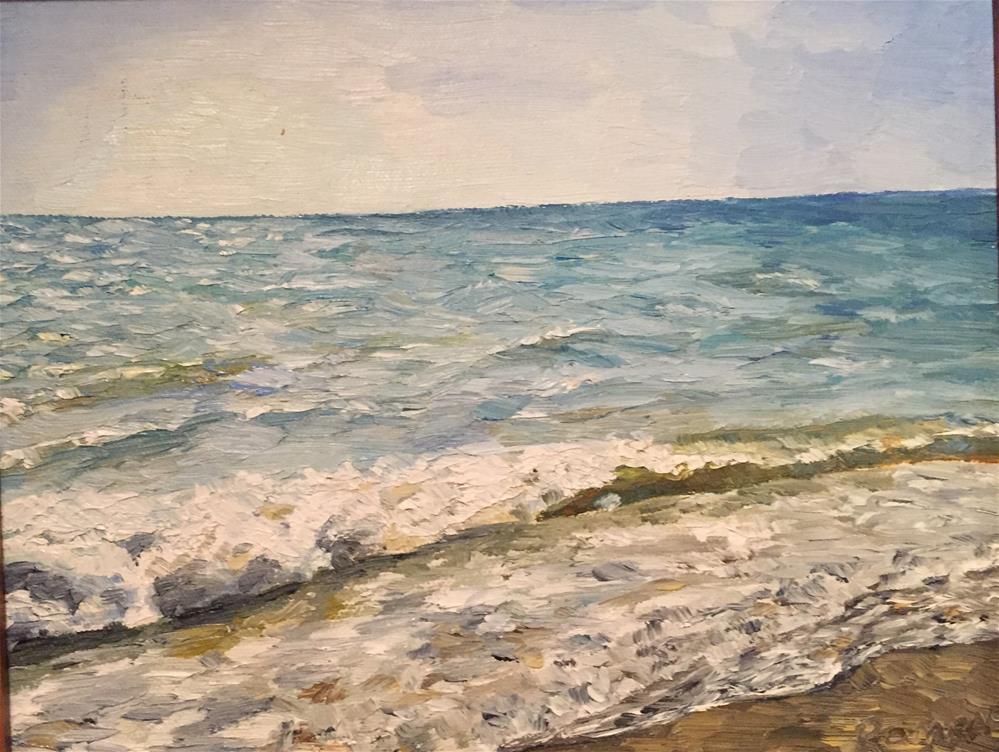 """Waves"" original fine art by Natasha Ramras"
