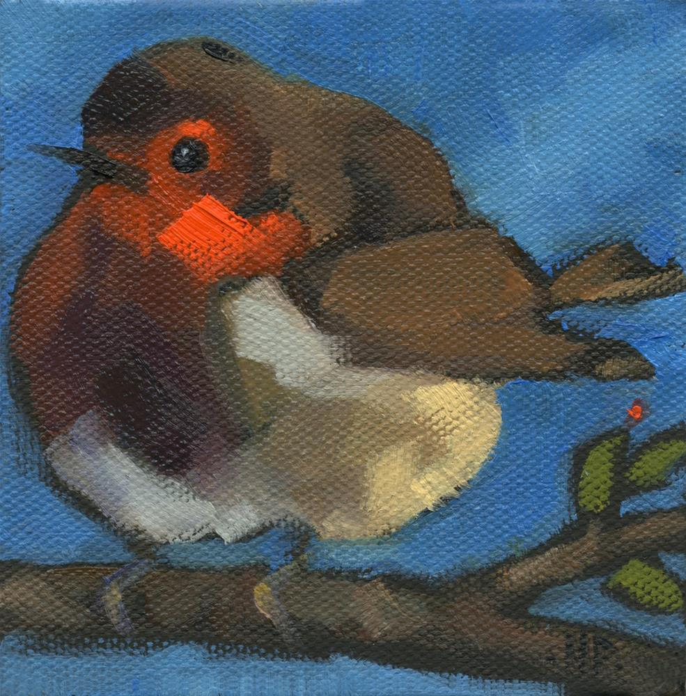 """SOLD -Rock'n Baby Robin"" original fine art by Nancy Parsons"