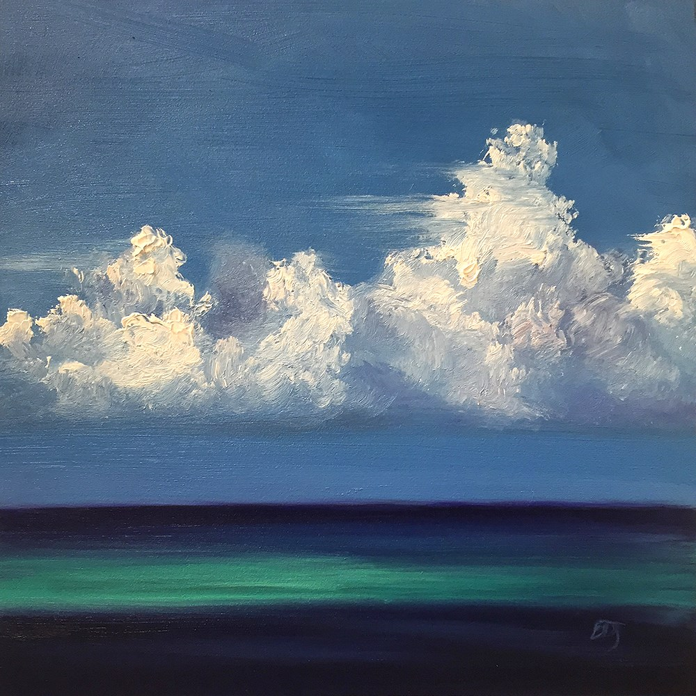 """Clouds 4"" original fine art by Elizabeth Dawn Johnston"