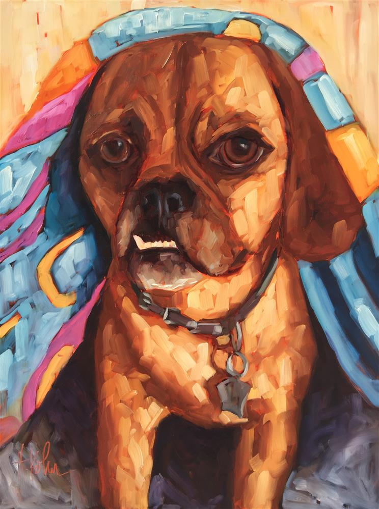 """Stephanie's Dog"" original fine art by Hallie Kohn"