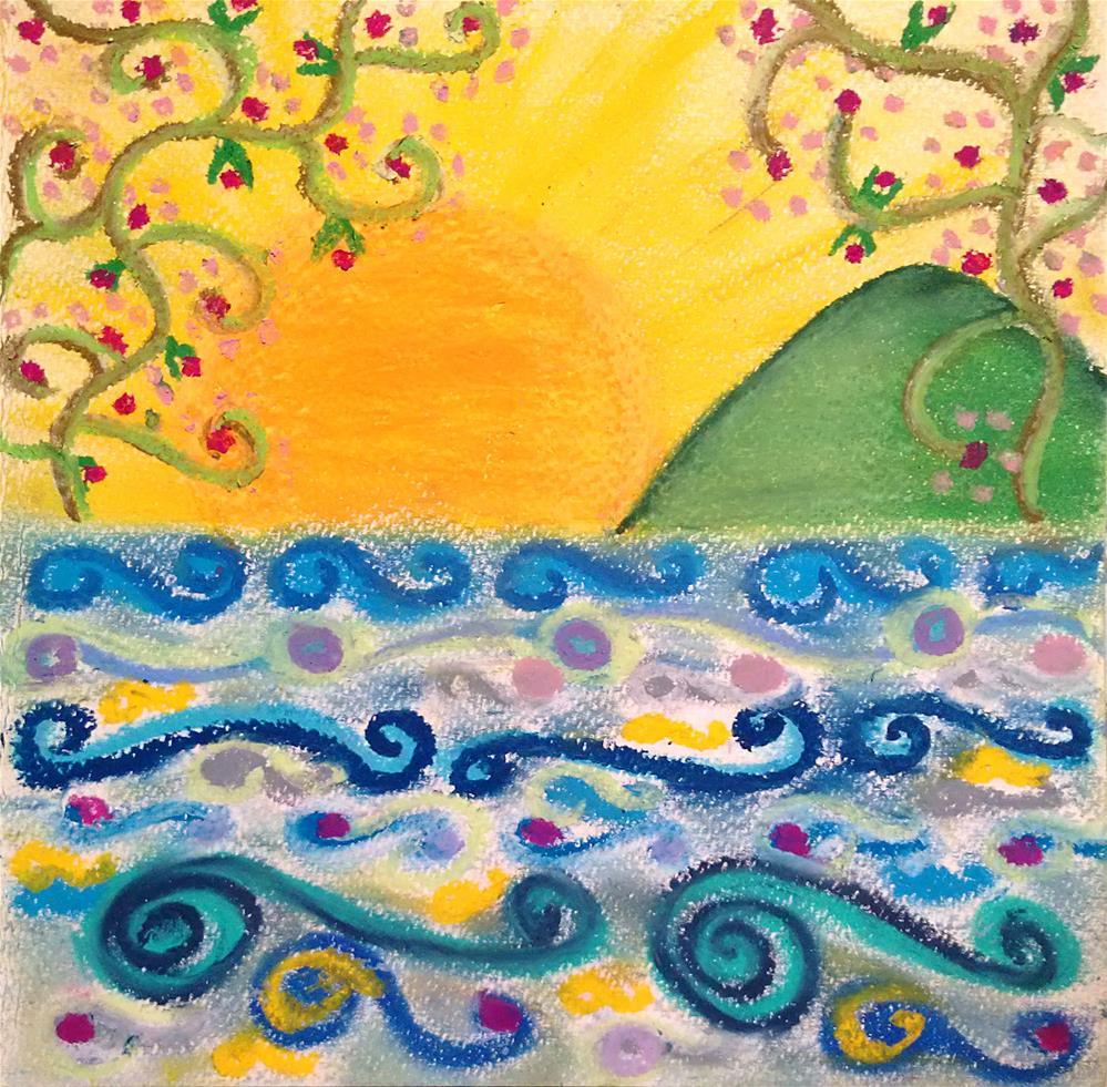 """""""Ocean of Grace"""" original fine art by Adéla Svobodová"""