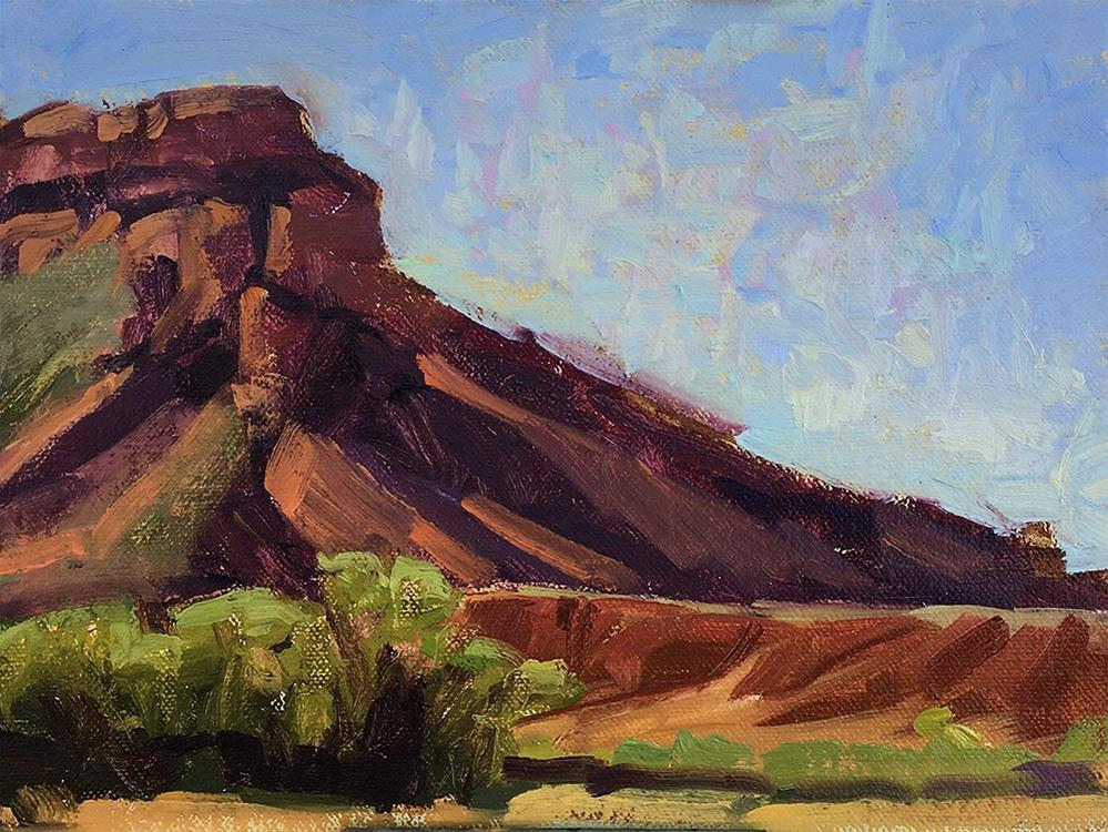 """""""Ghost Ranch plein air"""" original fine art by Miriam Hill"""