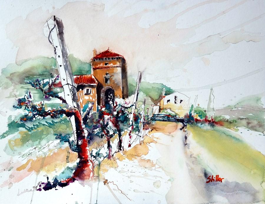 """2829 Bernardi Nachlese"" original fine art by Dietmar Stiller"