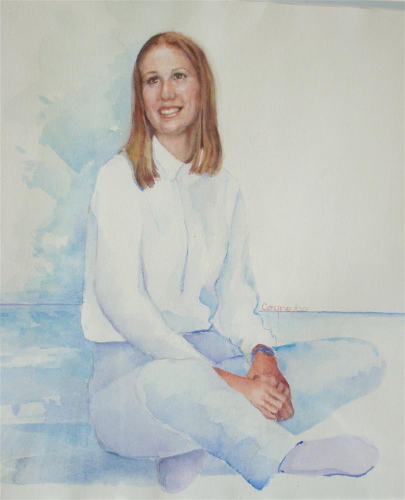 """Janine"" original fine art by meribeth coyne"