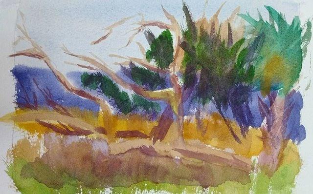 """Florida Gulf Coast Habitat"" original fine art by Maria Peagler"