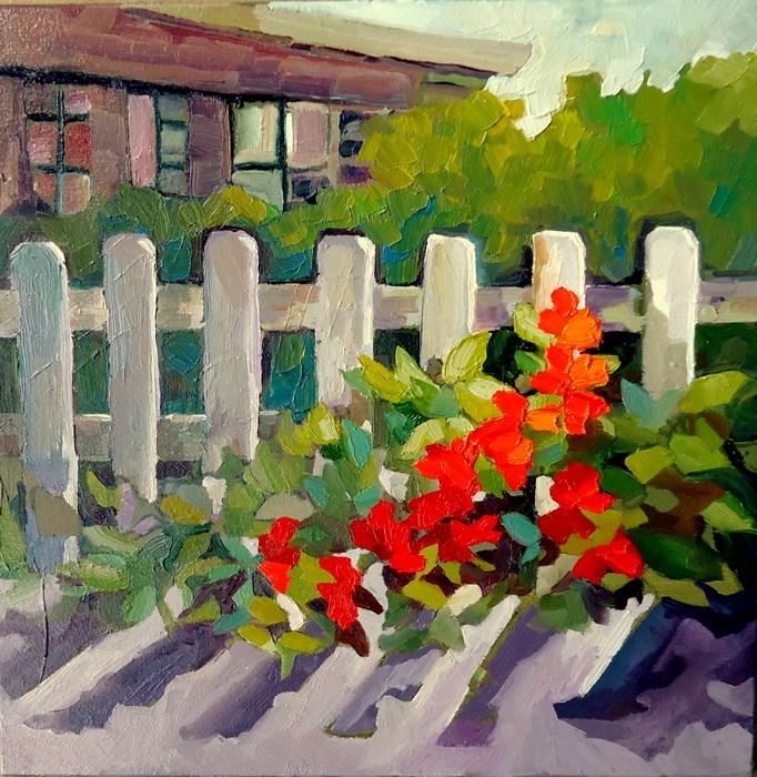 """Offensive End"" original fine art by Laurie Mueller"