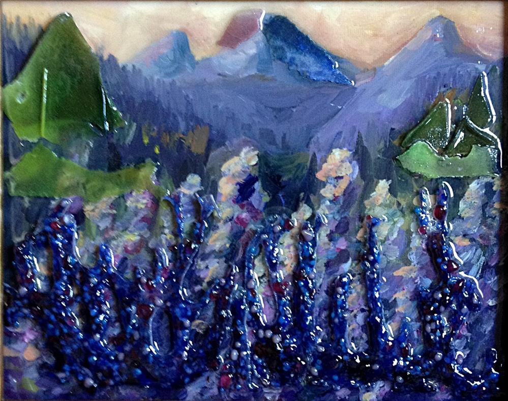 """Lupine Redux"" original fine art by Kristen Dukat"