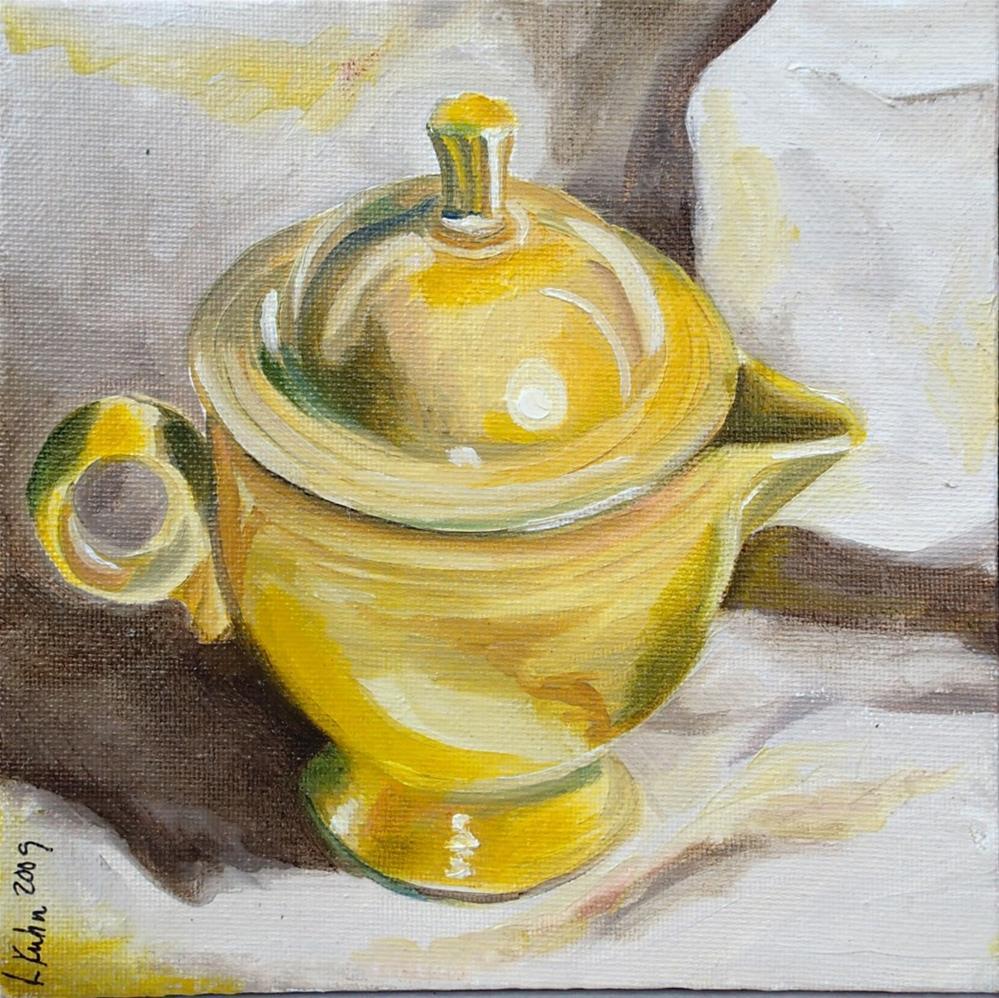"""Grandma's Cream Pitcher"" original fine art by Lauren Kuhn"
