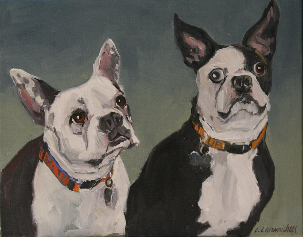 """bandit and louis"" original fine art by Carol Carmichael"