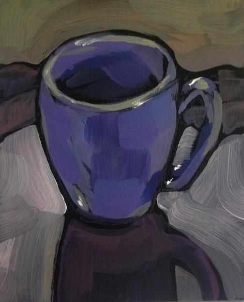 """""""Half Empty?"""" original fine art by Kat Corrigan"""