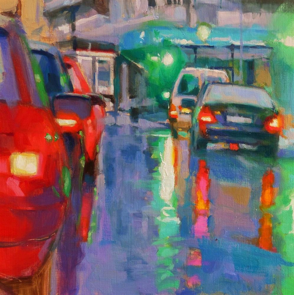 """Traffic lights"" original fine art by Víctor Tristante"