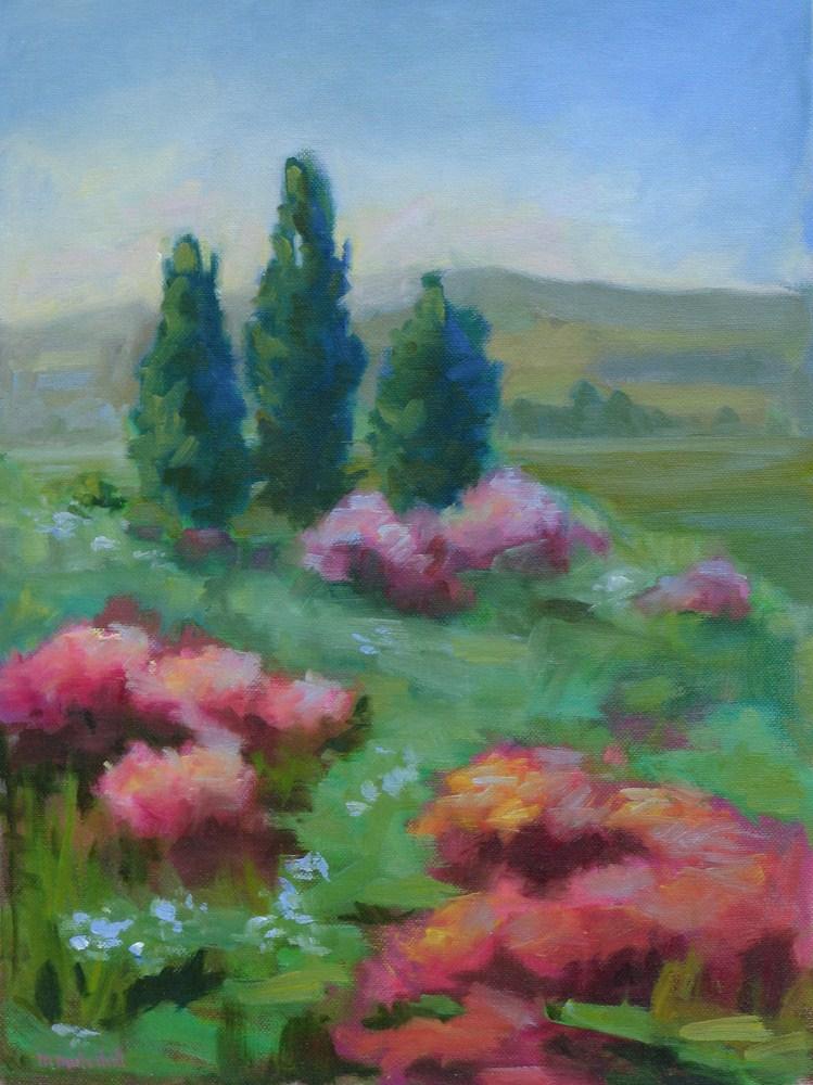 """Blue Flax, Blue Morning"" original fine art by Mary Mulvihill"
