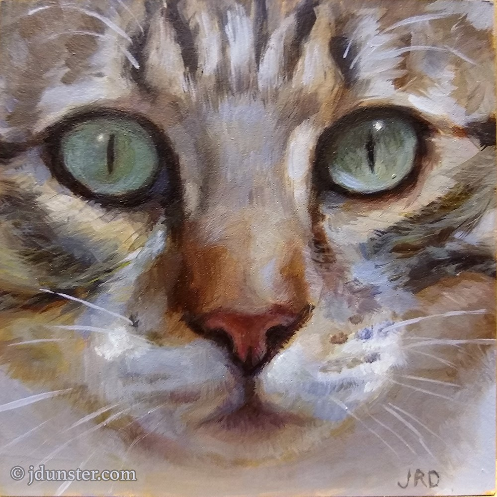 """Tabby Delight"" original fine art by J. Dunster"