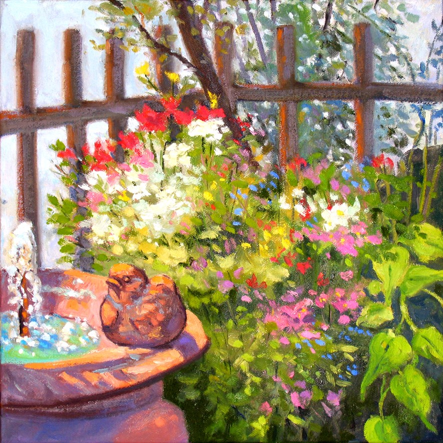 """Birdbath"" original fine art by Rhett Regina Owings"